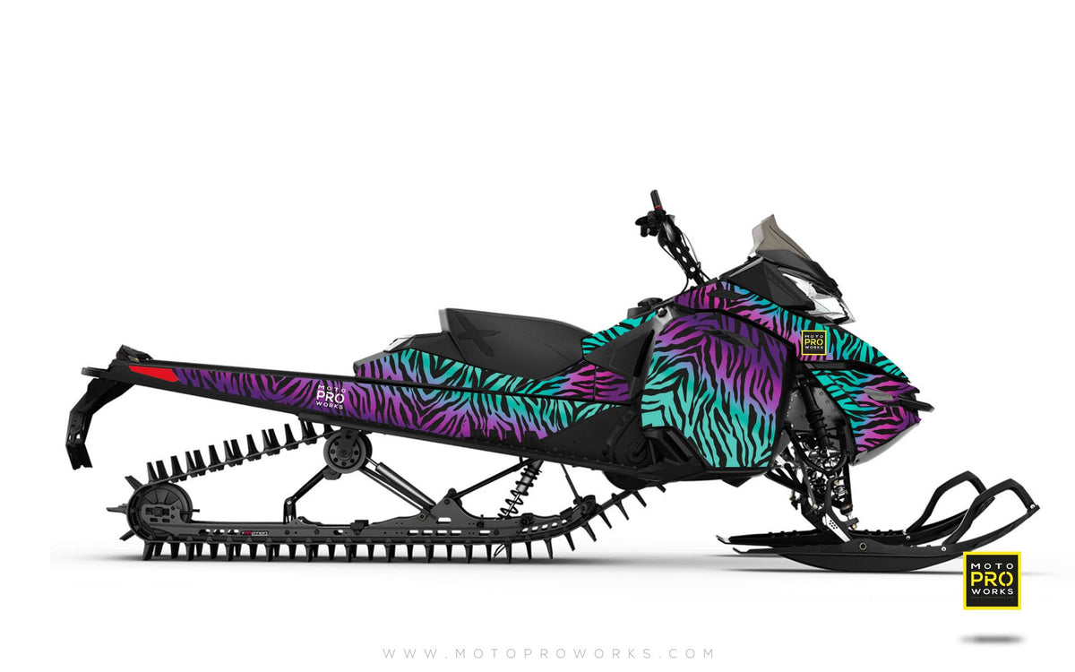 "Ski-Doo Graphics - ""Stripey"" (solid purple) - MotoProWorks 