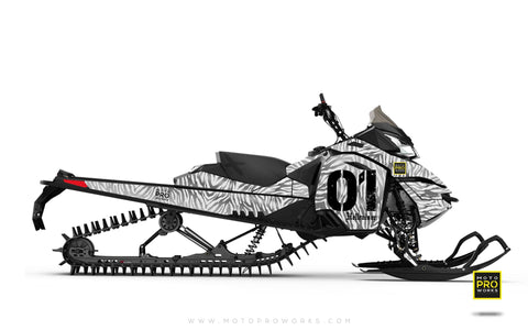 "Ski-Doo Graphics - ""Stripey"" (solid white) - MotoProWorks 