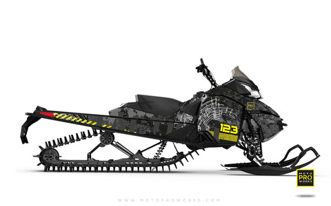 "Ski-Doo Graphics - ""Tactical"" (black) - MotoProWorks 