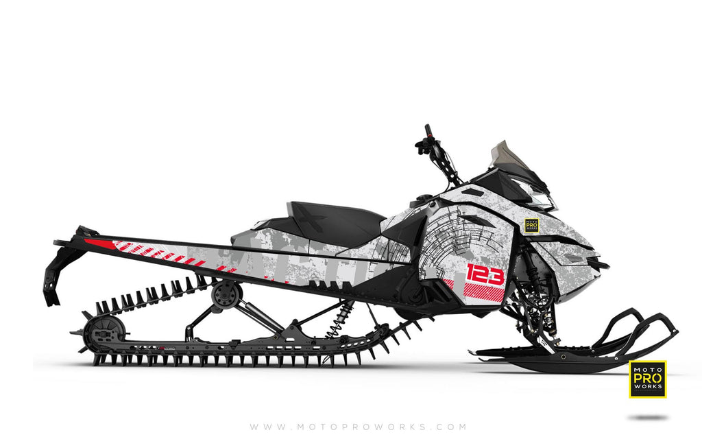 "Ski-Doo Graphics - ""Tactical"" (white)"