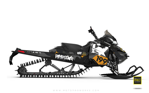 "Ski-Doo Graphics - ""Wildcamo"" (black) - MotoProWorks 