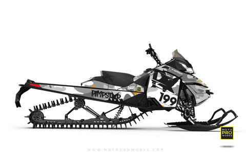 "Ski-Doo Graphics - ""Wildcamo"" (white) - MotoProWorks 