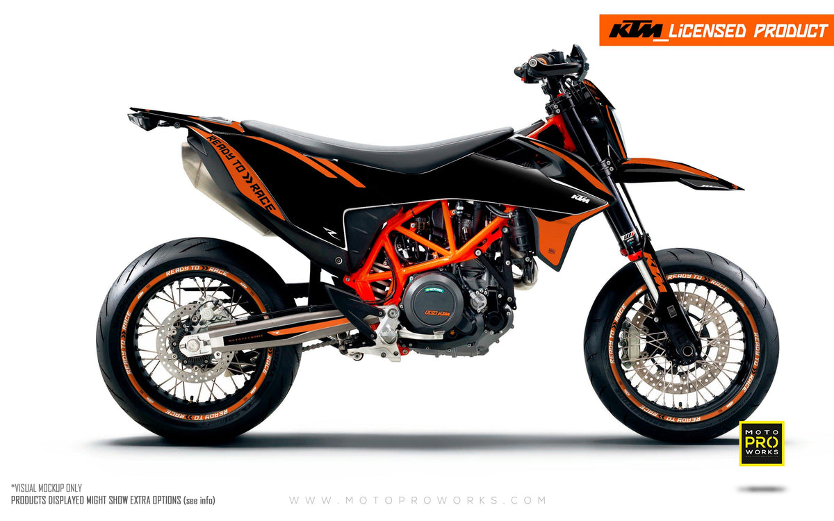 "KTM GRAPHIC KIT - ""Trac"" (black)"