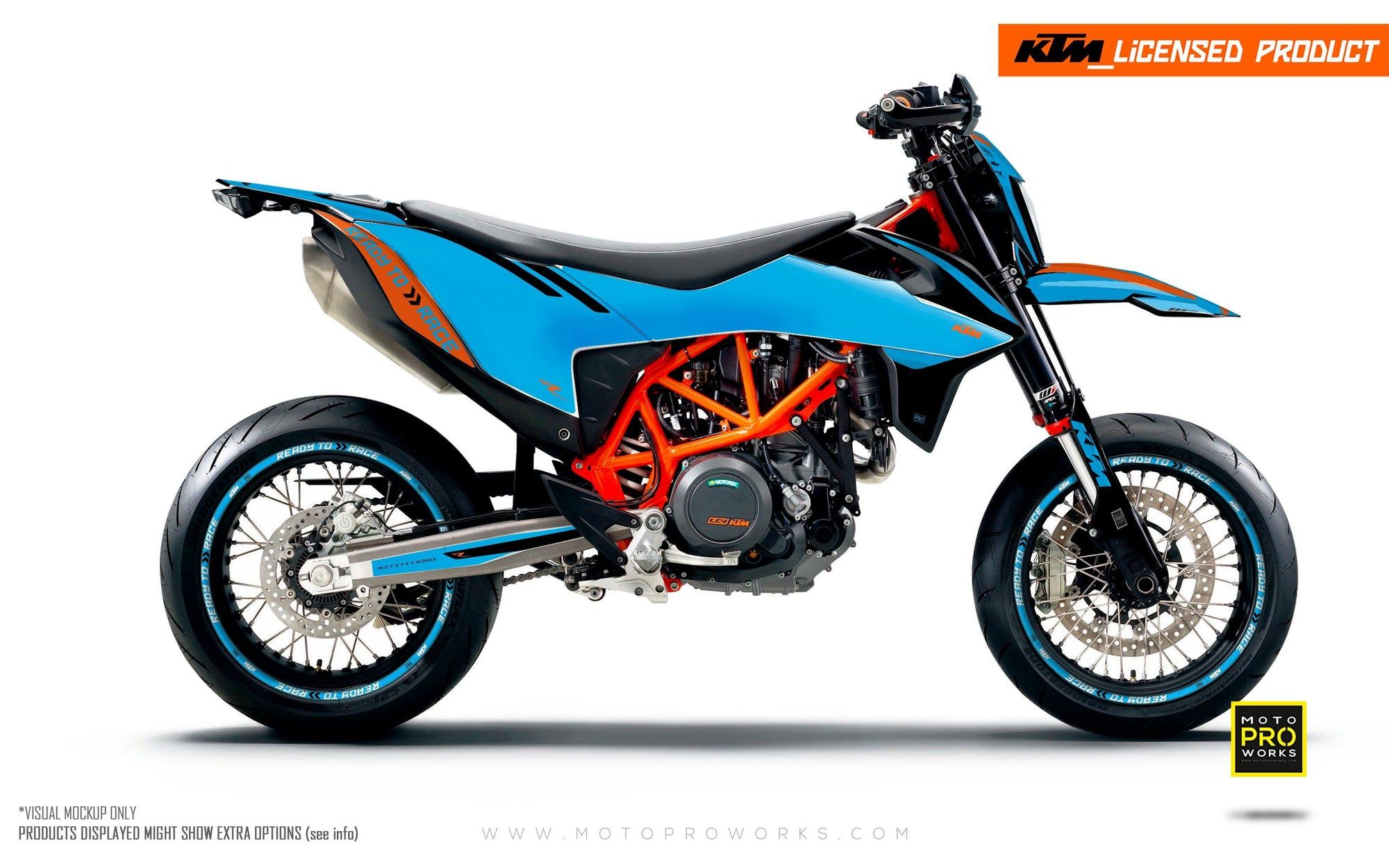 "KTM GRAPHIC KIT - ""Trac"" (blue)"