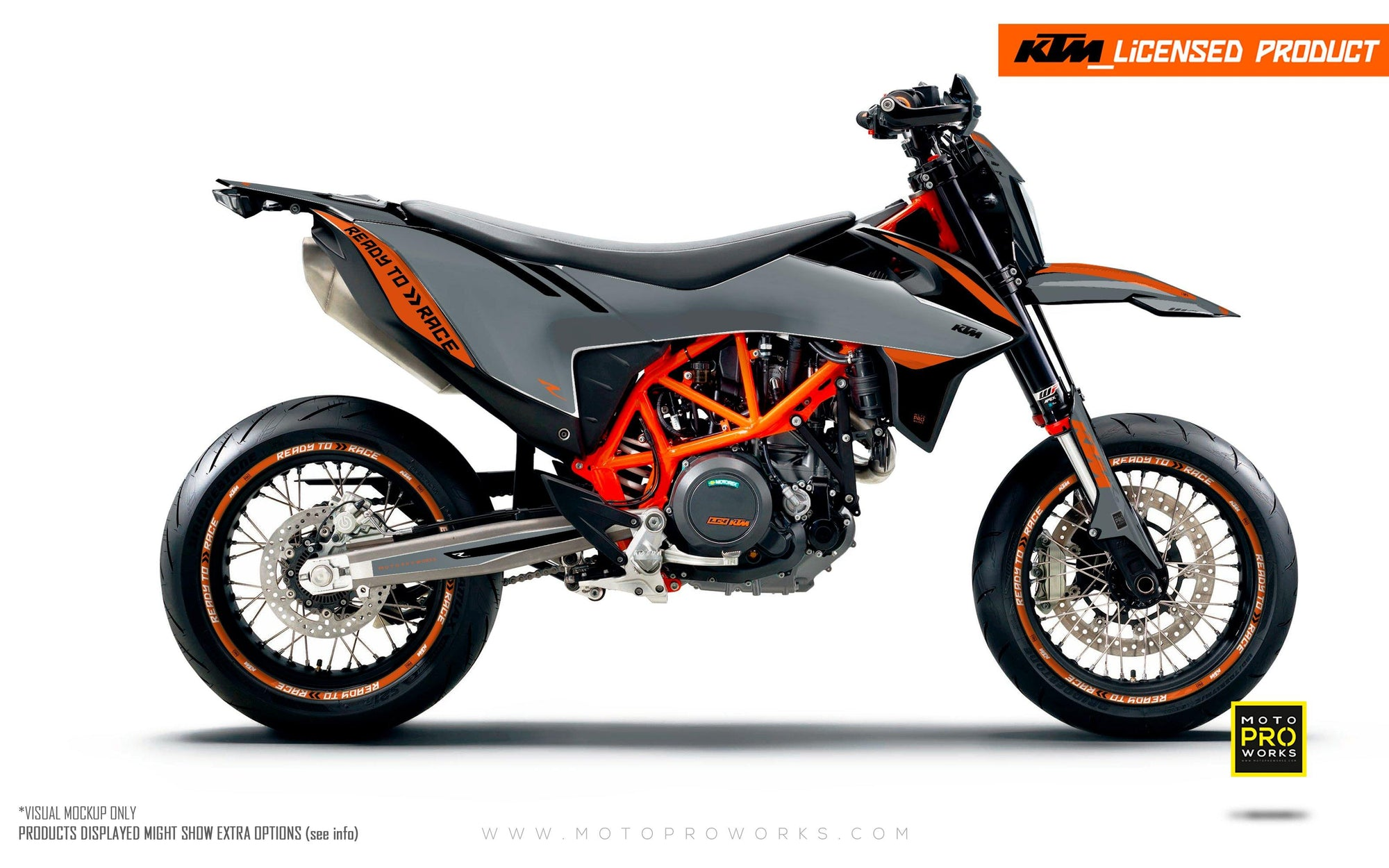 "KTM GRAPHIC KIT - ""Trac"" (grey/black)"