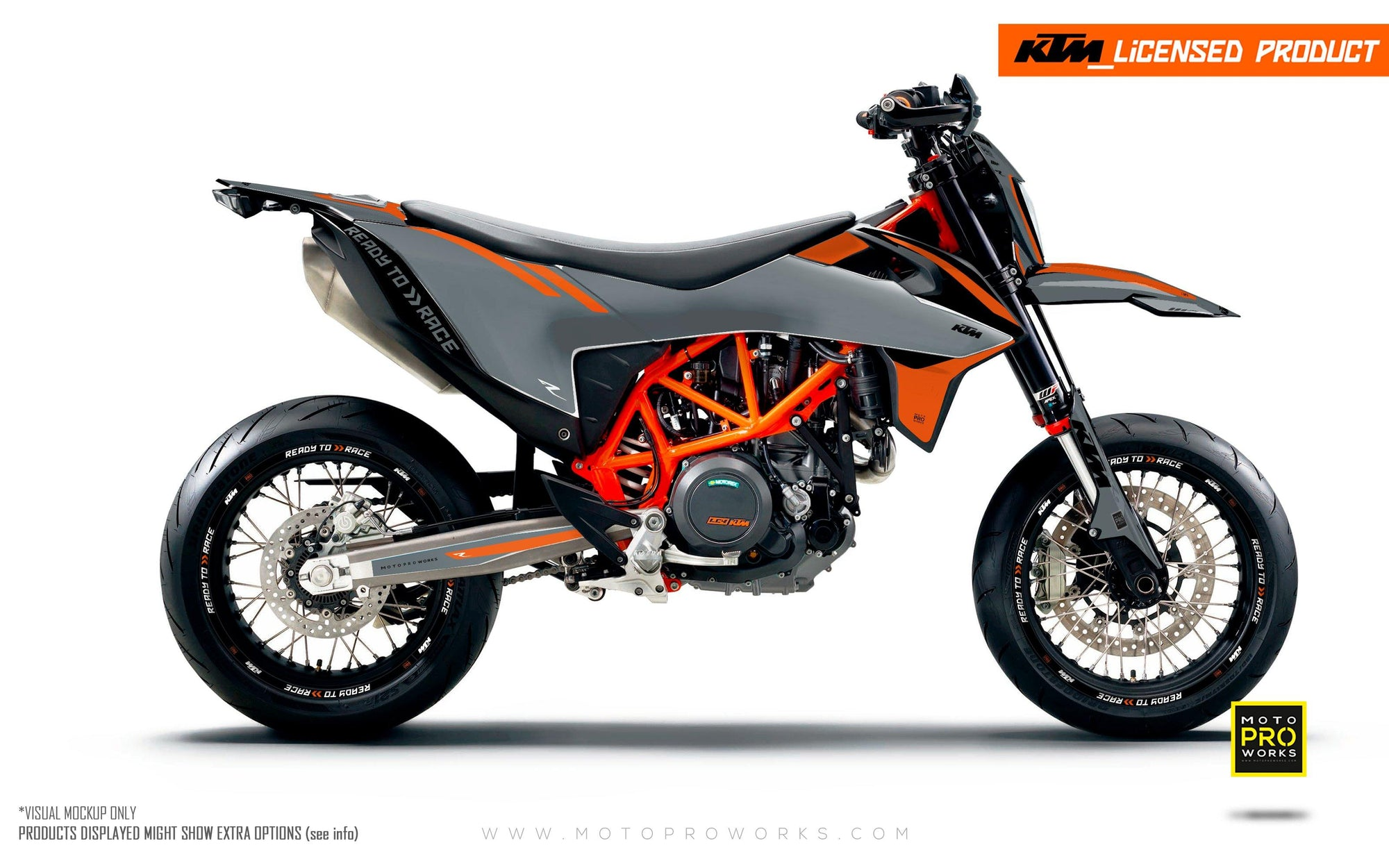 "KTM GRAPHIC KIT - ""Trac"" (grey/orange)"