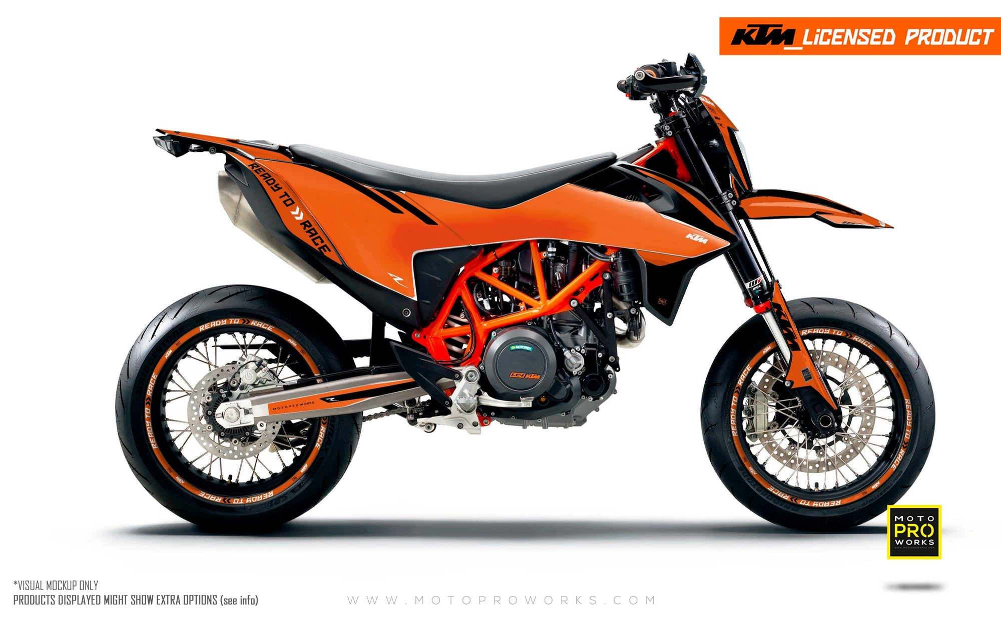 "KTM GRAPHIC KIT - ""Trac"" (orange)"
