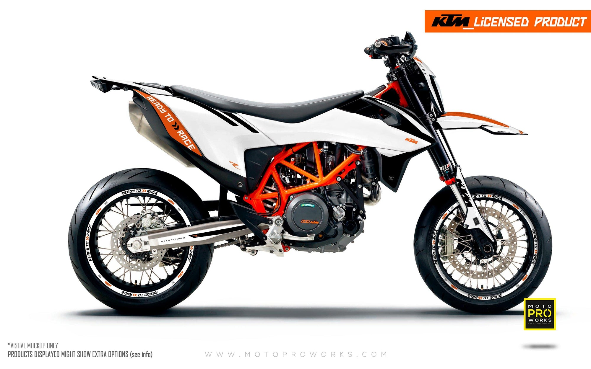 "KTM GRAPHIC KIT - ""Trac"" (white)"