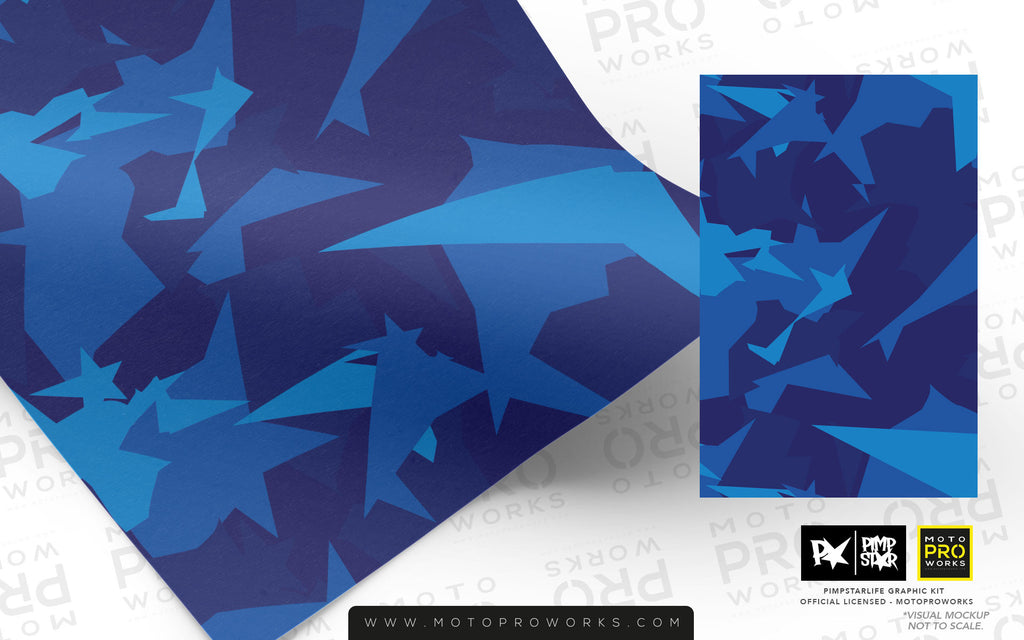 Wrap foil - M90CAMO (blue) - MotoProWorks | Decals and Bike Graphic kit