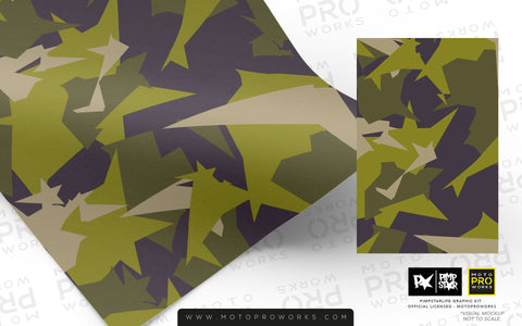Wrap foil - M90CAMO (M90 Green) - MotoProWorks | Decals and Graphic kit