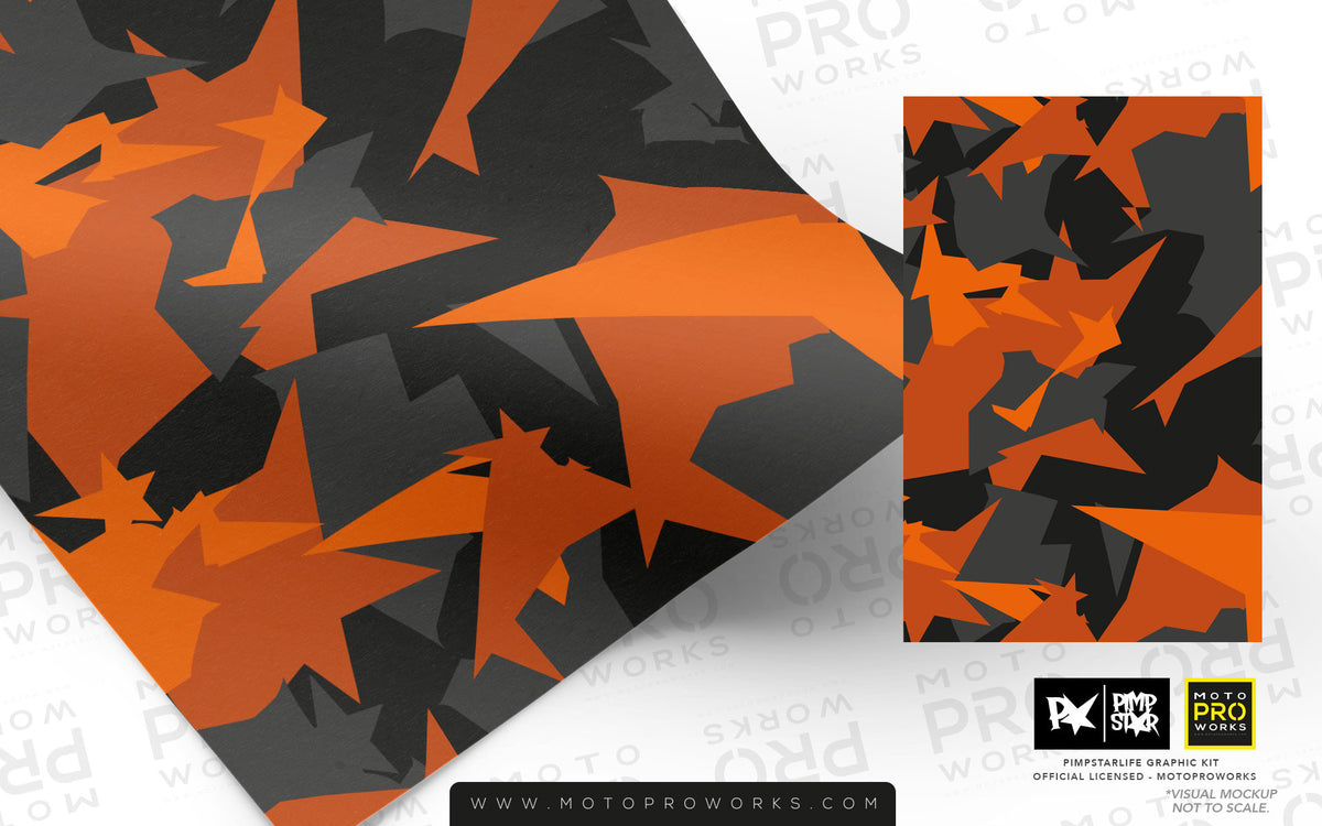 Wrap foil - M90CAMO (orange) - MotoProWorks | Decals and Bike Graphic kit
