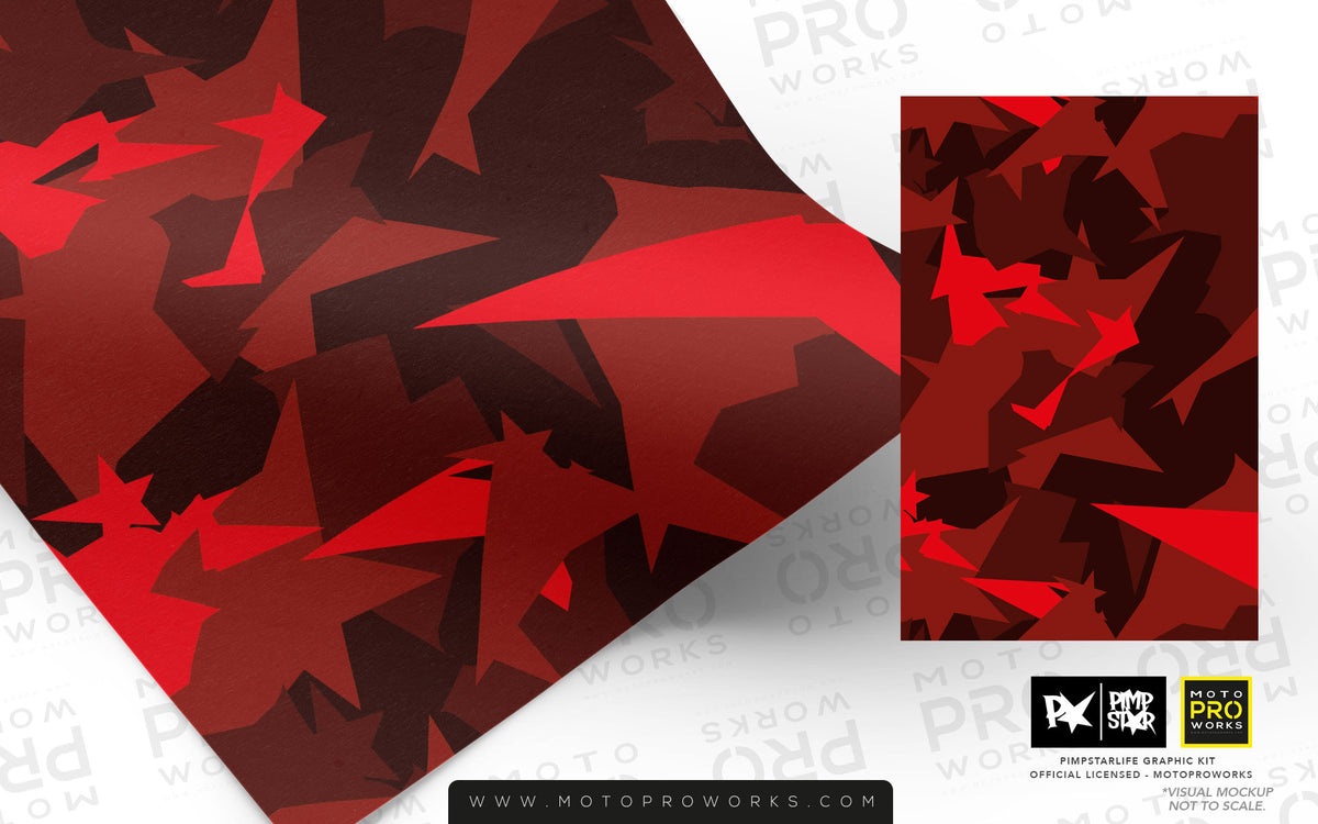 Wrap foil - M90CAMO (red) - MotoProWorks | Decals and Bike Graphic kit