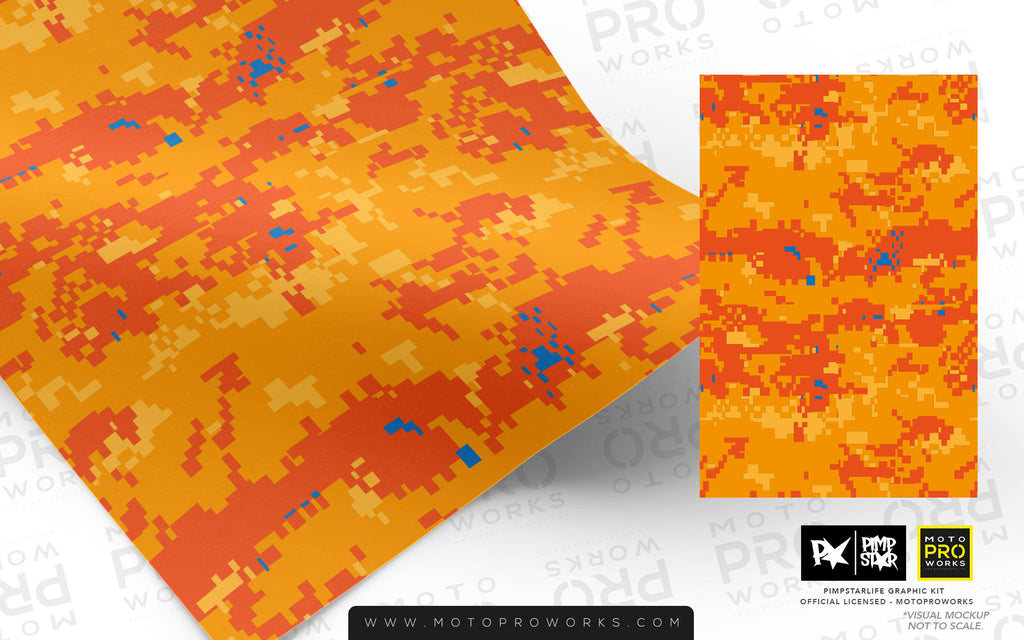 Wrap foil - Marpat (orange) - MotoProWorks | Decals and Bike Graphic kit