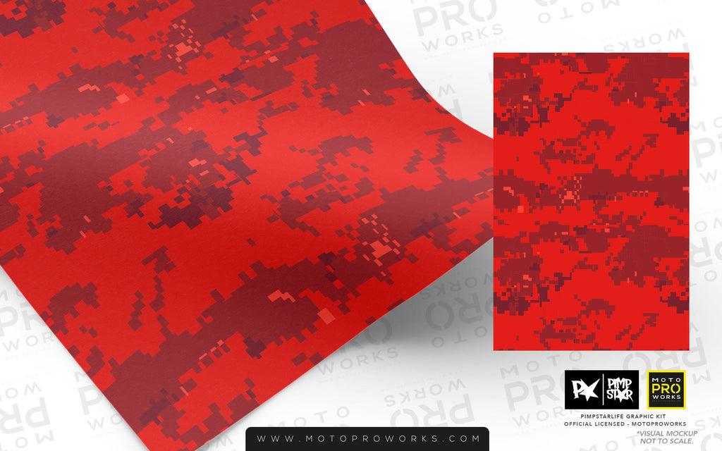 Wrap foil - Marpat (red) - MotoProWorks | Decals and Bike Graphic kit