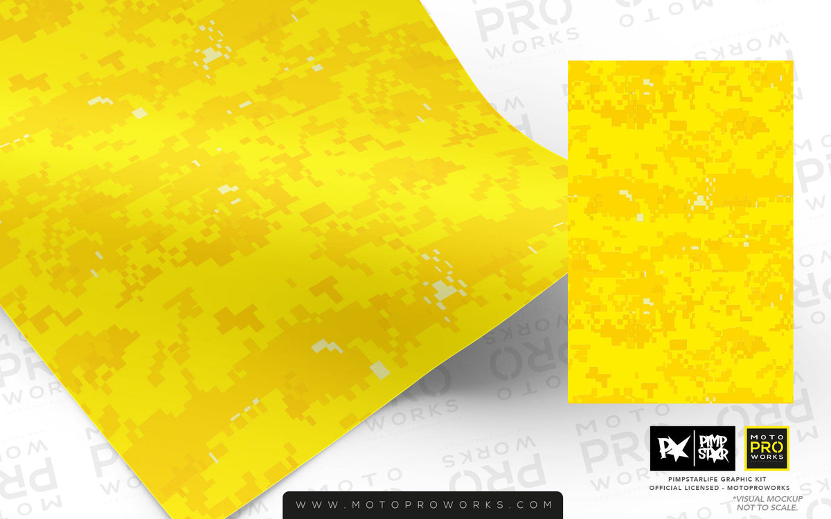 Wrap foil - Marpat (yellow) - MotoProWorks | Decals and Bike Graphic kit