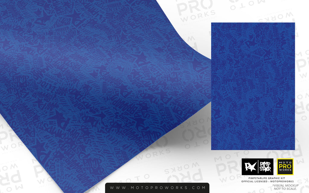 Wrap foil - Stickerbomb (blue) - MotoProWorks | Decals and Graphic kit