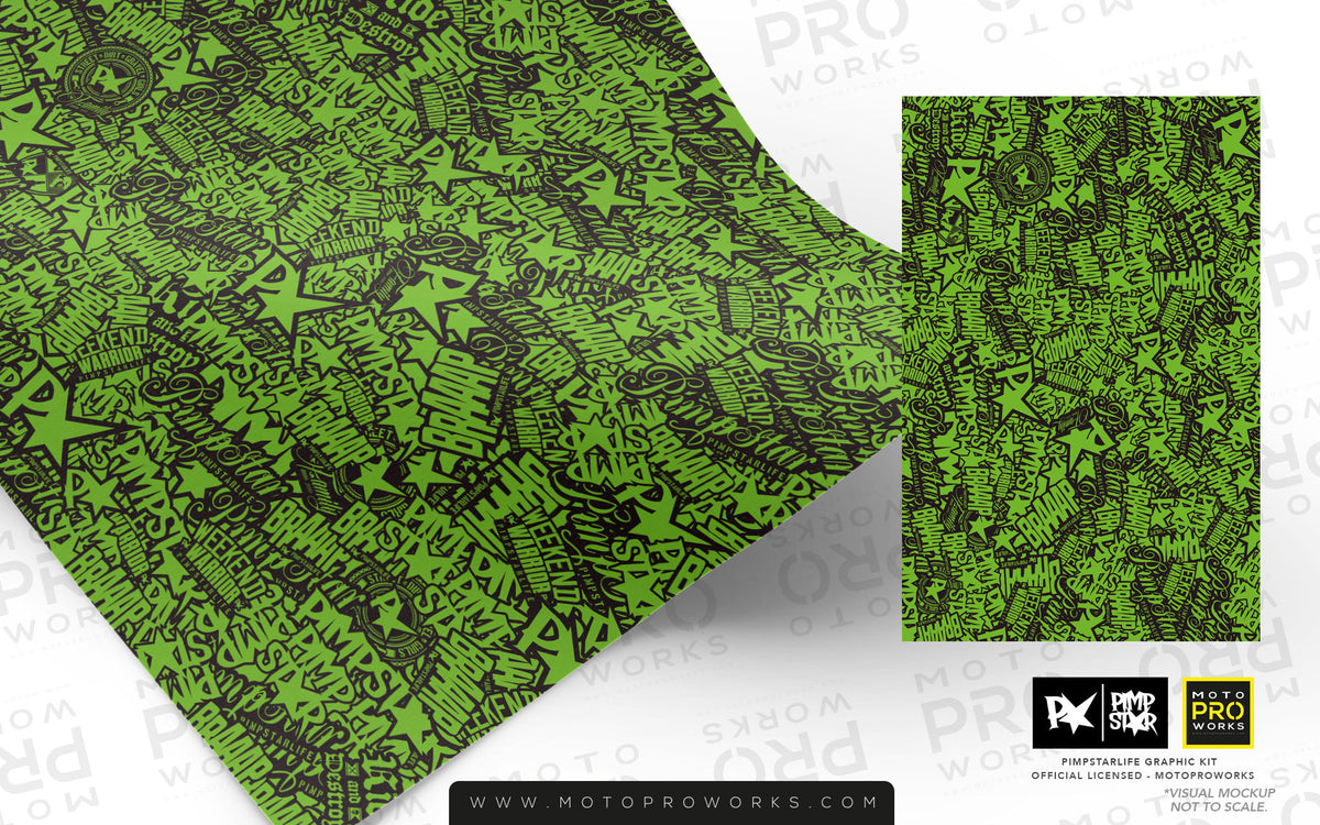 Wrap foil - Stickerbomb (green) - MotoProWorks | Decals and Bike Graphic kit
