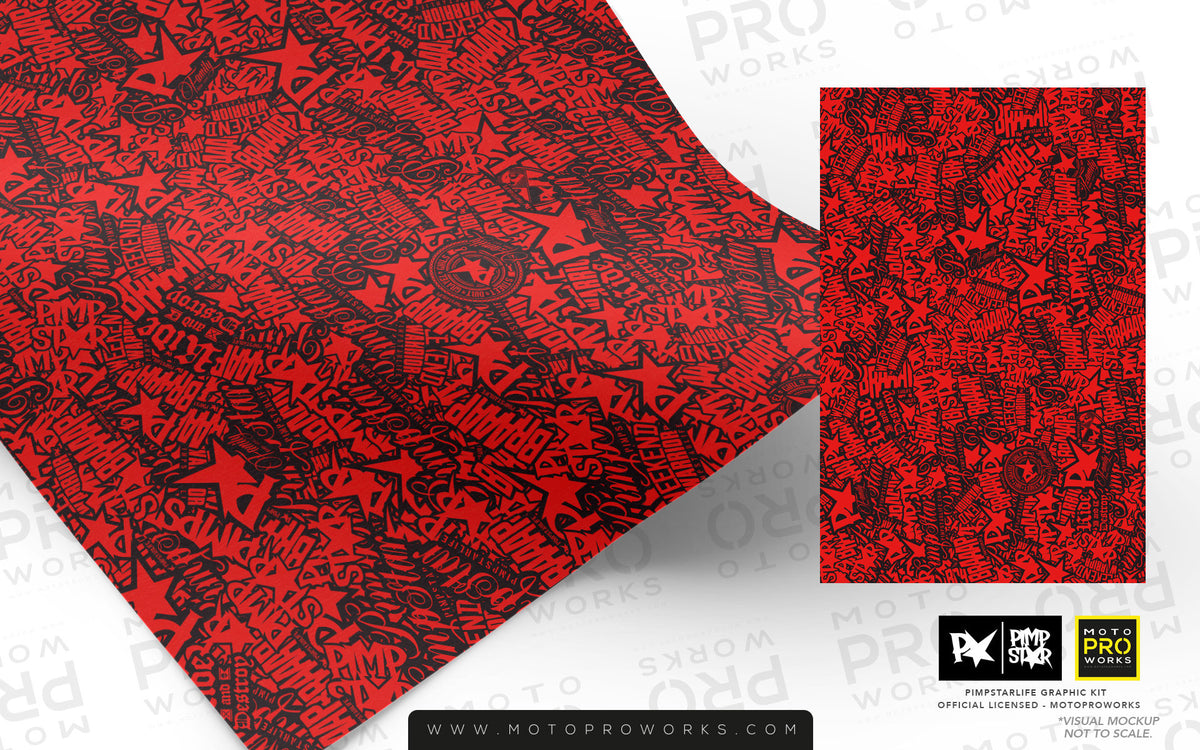 Wrap foil - Stickerbomb (red) - MotoProWorks | Decals and Bike Graphic kit