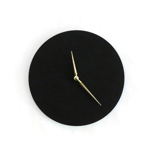 Black Wall Clock, Minimalist Home Decor,  Wood Clock, Trending, Decor and Housewares, Home and Living