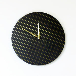 Modern Wall Clock, Black and Gold Clock,  Home And Living,  Home Decor,  Decor and Housewares