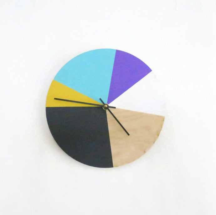 Unique Wall Clock, Color Block Wall Art, Home and Living, Home Decor, Decor and Housewares