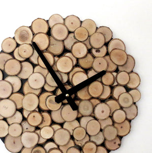 Wood Wall Clock, Reclaimed Wood Art, Eco Friendly Home Decor, Decor and Housewares