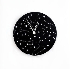 Wall Clock, Constellation Clock, Astrology Art,  Astronomy Clock, Home and Living, Home Decor, Decor & Housewares