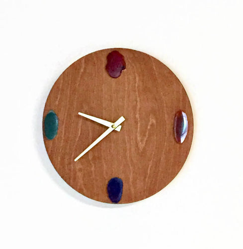 Agate Wall Clock, Polished Agate,  Home Decor, Decor and Housewares