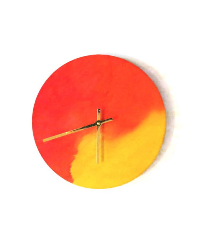 Wall Clock, Wooden Clocks, Watercolor Art,  Home Decor, Decor and Housewares, Home and Living
