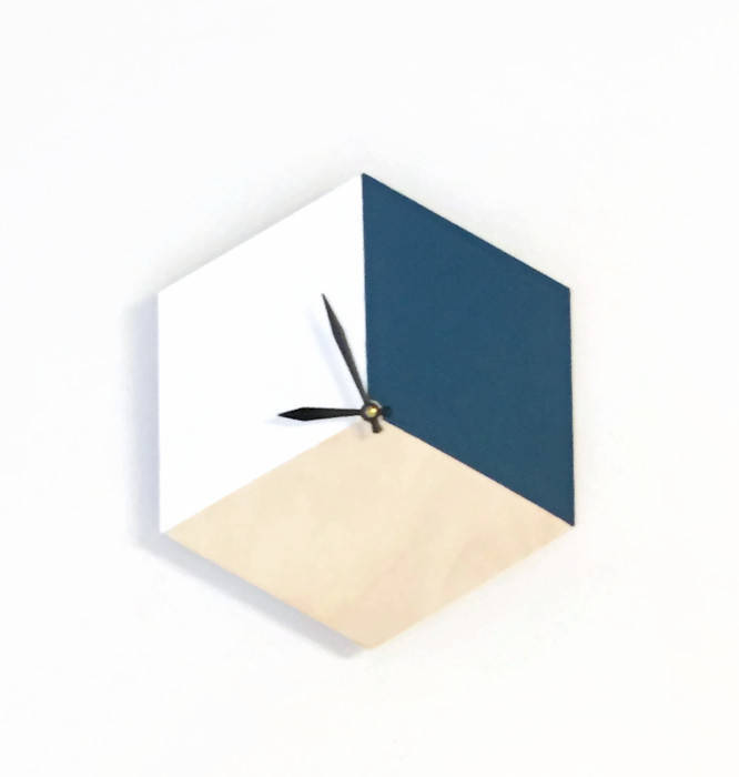 Silent Wall Clock, Modern Wood Clock, Home and Living, Home Decor, Decor and Housewares
