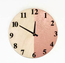 Wall Clocks, Rose Gold and Black Art, Wood Clock, Home Decor,  Home and Living