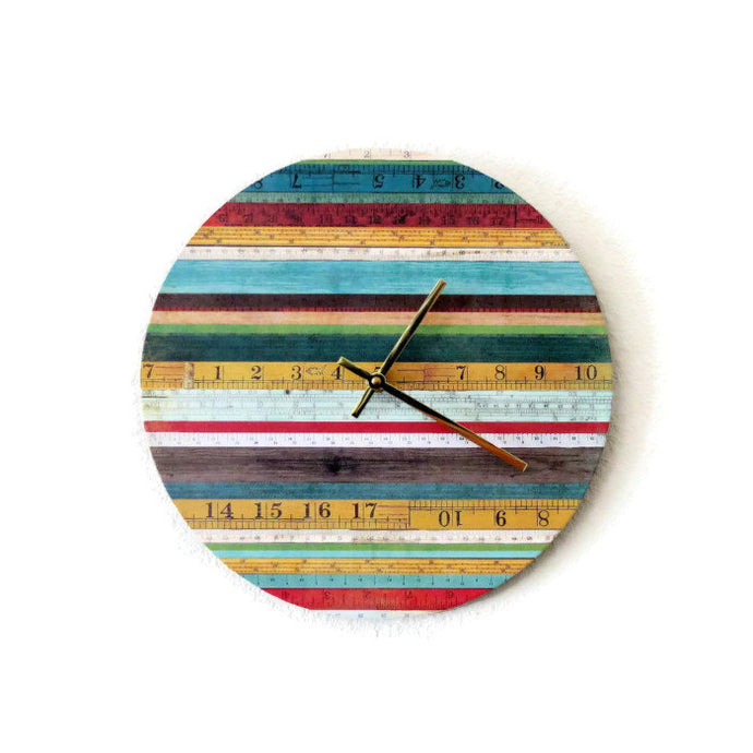 Unique Wall Clock, Rainbow Wall Clock, Home Decor, Quartz Clock,  Decor and Housewares, Home and Living, Clock