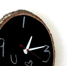 Chalkboard Clock,  Home and Living, Decor & Housewares, Rustic Wall Decor, Wood Decor,  Unique Gift