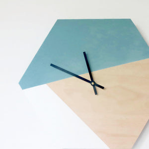 Wall Clock, Wood Clock, Geometric Home Decor, Unique Wall Clock, Home and Living, Wall Clock