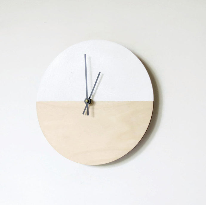 Silent Wall Clock, Modern Wood Clock, Gift For Him,  Home Decor, Housewares, Home and Living, Unique Wall Clock