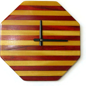 Wood Wall Clock, Ready To Ship, Father's Day Gift,  Exotic Wood Decor, Living Room Clock, Home Decor, Home and Living, Clocks