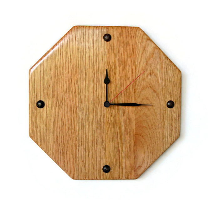 Wall Clock,  Oak Wood Home Decor,  Home and Living, Decor & Housewares