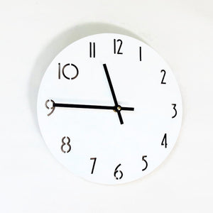 White Wall Clock, Birch Wood Clocks, Engangement Gift Idea, Laser Cut Numbers, Unique Wall Clock, Decor and  Housewares,  Home and Living