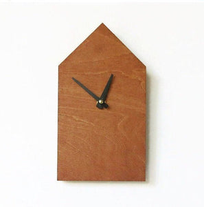 Wall Clock, Trending Decor, Wood House,  House Clock,  Minimalist Clock,  Small Wall Clock, Home Decor, Home and Living, Wall Clock