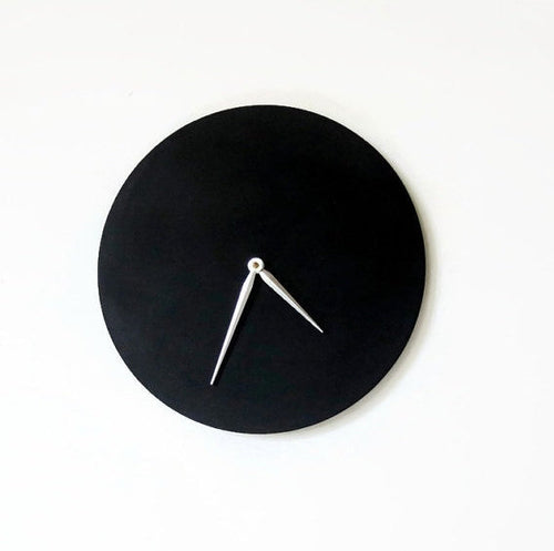 Large Wooden Wall Clock,  Black Clock, Decor and  Housewares, Home and Living
