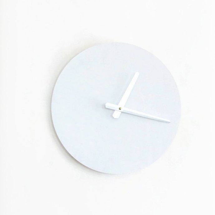 Modern White Wall Clock, Wood Clock, Trending,  Decor and  Housewares, Home and Living