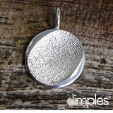 White Gold Fingerprint Charm by DimplesCharms.com