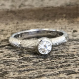 Fingerprint Engagement Ring in White Gold by DimplesCharms.com