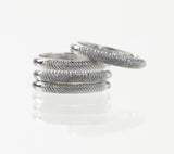 Stackable Fingerprint Rings in Sterling Silver by Dimples available at DimplesCharms.com