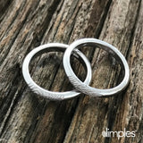 White Gold Stackable Fingerprint Wedding Band by Dimples available at DimplesCharms.com