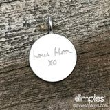 Handwriting on Jewelry by DimplesCharms.com