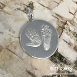 Hand and Footprint Charm by DimplesCharms.com
