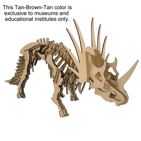 [LARGE] HDPE Styracosaurus in 9 Two-Tone Color Combinations