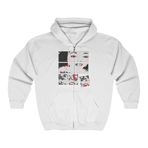 Ladies Made Up White Heavy Blend™ Full Zip Hooded Sweatshirt (Size S-2XL)