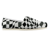 B&W Checker Sway Espadrille Casual Shoe (Sizes US 4.5-14)